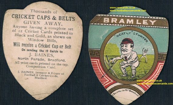 1890's women's cricket home Bramley CC Baines wicket keeper card
